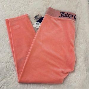 Juicy Couture Black Label pink velour leggings